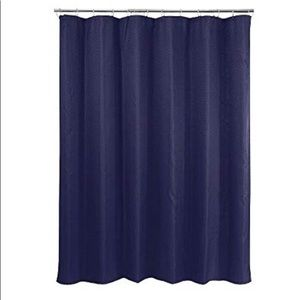 Other - Navy Basketweave Shower Curtain